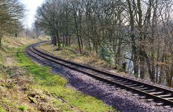 Eisenbahnlinie. Stockbild