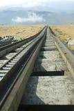 Eisenbahnlinie des Zahns Stockfoto