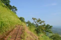 Eisenbahnlinie Matheran lizenzfreie stockfotografie