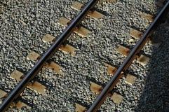 Eisenbahnliniebahnstreckezüge stockfotos