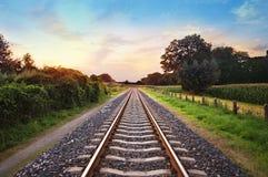 Eisenbahnlinien Stockfotos