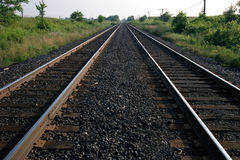 Eisenbahnlinien Stockbild