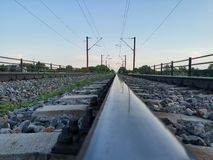 Eisenbahnreflexion stockfotos