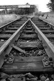 Eisenbahnschalter im Kanal von Antwerpen Stockfotos