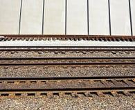 Eisenbahnspuren Stockbild