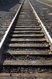 Eisenbahnspuren in Portland, Oregon. Lizenzfreies Stockbild