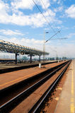 Eisenbahnstation stockfotografie