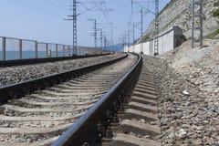 Eisenbahnstrecke Tuapse - Adler Lizenzfreies Stockfoto