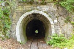 Eisenbahntunnel in Lillafured Stockbilder