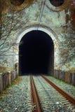 Eisenbahntunnelabzugskanal in den Bergen Stockbild