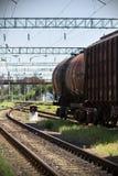Eisenbahnwagen auf einer Ersatzlinie Lizenzfreie Stockfotografie