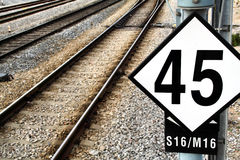 Eisenbahnzeichen Lizenzfreie Stockbilder