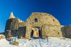 Eisenberg Castle Ruins in winter Royalty Free Stock Image