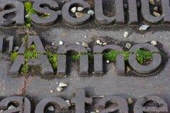 Eisenbuchstaben Stockfotografie