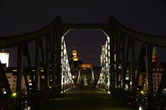 Eisener Steg, Frankfurt magistrala - Am - Zdjęcia Royalty Free