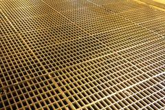 Eisengitter auf dem Fußboden Lizenzfreies Stockbild