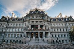 The Eisenhower Executive Office Building, in Washington, DC.  stock photo