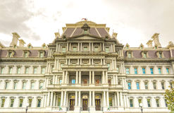Eisenhower executive office. Building in Washington DC near white house stock photography