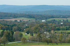 Eisenhower farm. View of Appalachian mountains with the Eisenhower farm in the foreground Royalty Free Stock Images