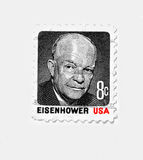 Eisenhower, USA. Eisenhower USA EISENHOWER , old postage more than 20 years old,USA Royalty Free Stock Images