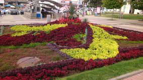 Eisenkasten in den Blumen lizenzfreie stockfotos