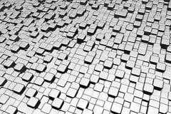 Eisenmetallwürfel Stockbild