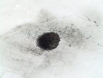 Eisenpulver im Magnetfeld stockfoto