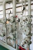 Eisenrohre für Wasserversorgung Stockfoto