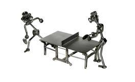Eisenspielzeug-Figürchen Ping-pong Lizenzfreies Stockfoto