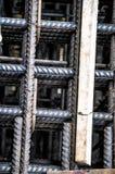 Eisenstangen vom konkreten Bau Stockfotos