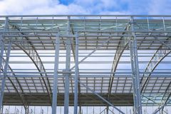 Eisenstruktur im Prozess errichtet werden stockfoto