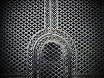 Eisentür in der moslemischen Art lizenzfreie stockfotos