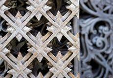 Eisentor-Designhintergrund der Nahaufnahme alter Lizenzfreies Stockbild