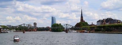 The Eiserne Steg bridge in Frankfurt royalty free stock photography