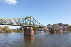 The Eiserne Steg bridge in Frankfurt Main Stock Photography