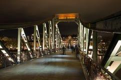 Eiserner Steg bridge in Frankfurt am Main Royalty Free Stock Photos