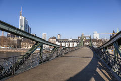 Eiserner steg at river Main Stock Images