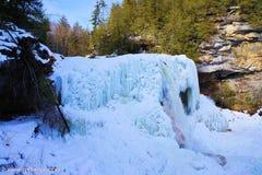 Eisfall stockfotografie