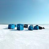 Eisfischen Stockfotos