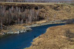 Eisfreier Fluss Lizenzfreie Stockfotografie