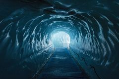 Eishöhle Mer de Glace stockfotografie