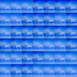 Eishintergrundsimulationen mit Eis-farbigen Gitterzellen, weiches Blau vektor abbildung