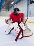 Eishockey-Tormann stockfoto
