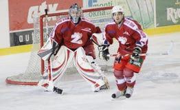 Eishockeyabgleichung lizenzfreie stockbilder