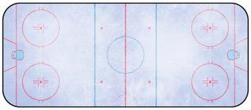 Eishockeyfeld Stockbild