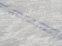 Eishockeyfeldmarkierungen, Wintersporthintergrund Lizenzfreie Stockfotografie