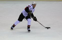 Eishockeyflügelspieler Lizenzfreies Stockbild