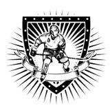 Eishockeyschild Stockfoto