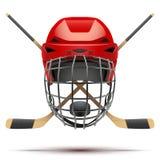 Eishockeysymbol Vier Schneeflocken auf weißem Hintergrund Lizenzfreie Stockbilder