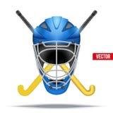 Eishockeysymbol Vier Schneeflocken auf weißem Hintergrund Stockfoto